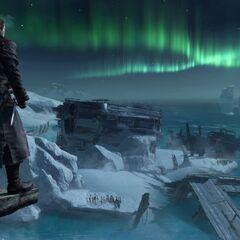 谢伊眺望北大西洋极光
