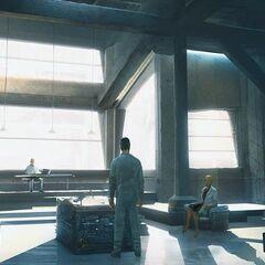 Concept art of the laboratory