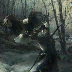 康纳手持一只鹰的概念图
