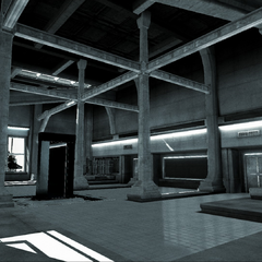 The laboratory as seen in <i>Desmond's Journey</i>