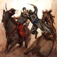 Assassins-Creed-Early-Concept-Art-Horse Battle