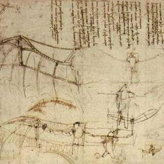 达芬奇的飞行器图纸