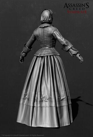 File:ACS Florence Nightingale ZBrush Model - Back View.jpg