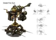 Greek fire gun Concept