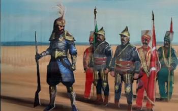 <small>Murat i jego oddział Janczarzy.</small>