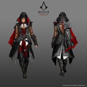 ACS Evie Frye Bloofer Lady Outfit - Concept Art