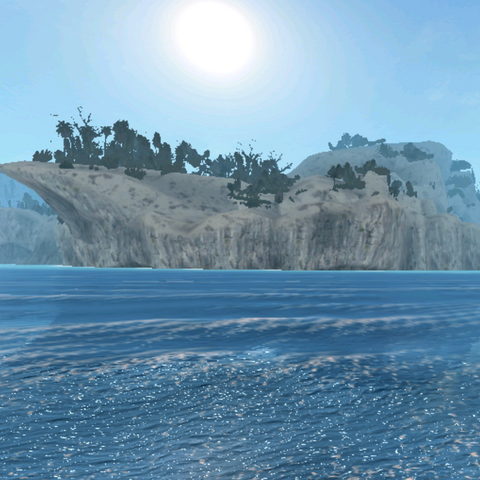 在一個有許多懸崖的地方