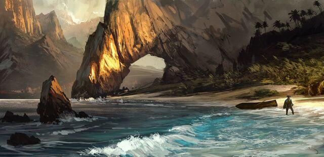File:AC4 Caribbean Beach - Concept Art.jpg