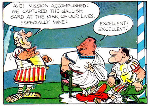 Image result for asterix the gladiator cacofonix
