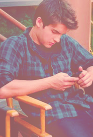 Cody checking his phone