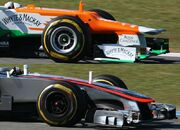 F1 2012 McLaren and Force India nose