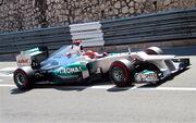 Michael Schumacher pole lap monaco 2012