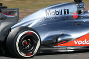 F1 2012 Jerez test - McLaren exhaust