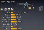 M4A1 Asa Thor statistics