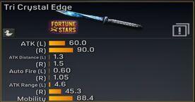Tri Crystal Edge Stats