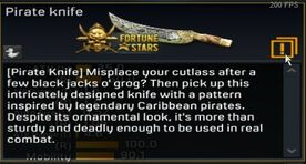 Pirate Knife description