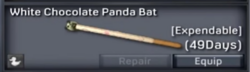 White Chocolate Panda Bat