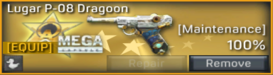 Lugar P-08 Dragoon uncustomizable