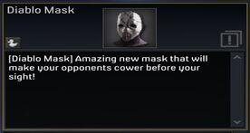 Diablo Mask description