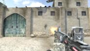 M4A1 Cyber Achilles firing