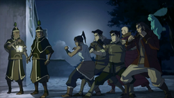 Team Avatar ambushes guards
