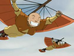 Gyatso and Roku glide