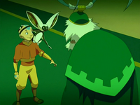 Aang, Momo, and Bumi