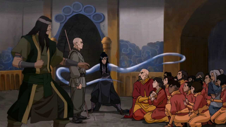 File:Red Lotus cornering the airbenders.png