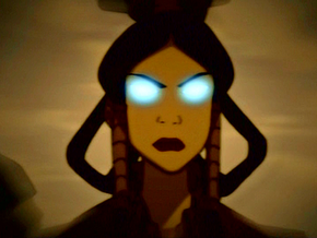 Shadowed female Fire Nation Avatar
