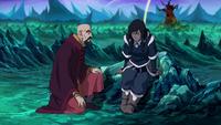 Tenzin consoling Korra