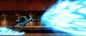 Azula's blazing blue fire attack