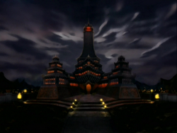 Fire Nation Royal Palace at night