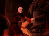 Zuko captures Aang