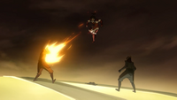 Korra fighting Equalists
