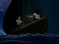 Pirates loading Zuko's ship