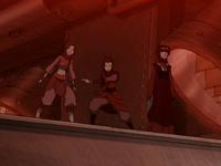 Azula's team inside the drill