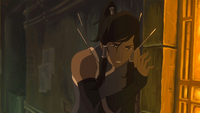 Korra stunned by darts