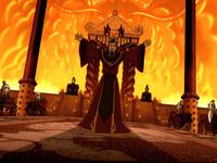 Ozai announcing his plan