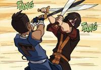 Swordbending battle