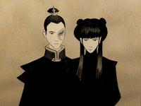 Mai and Zuko painting