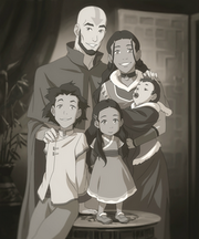 Aang, Katara, and their children