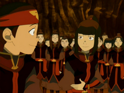 Aang and On Ji at the dance