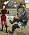 Sokka getting zapped by Azula.png