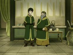 Iroh and Zuko in tea shop