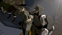 Bolin being arrested