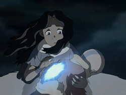 Katara revives Aang