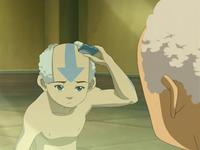 Aang shaving