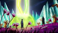 Korra and Kuvira in the Spirit World