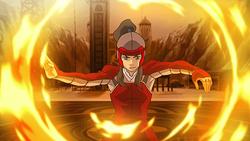 Korra defending herself