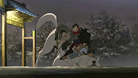 Naga refusing to carry Team Avatar